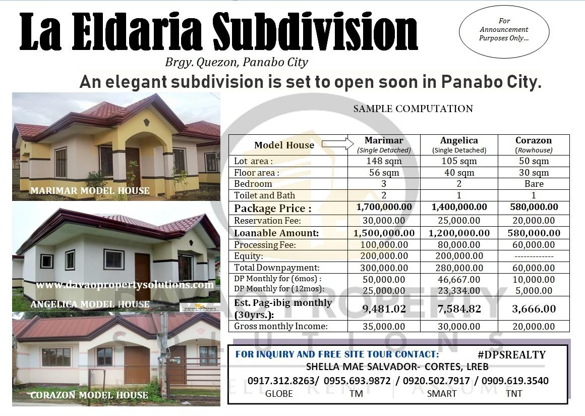 HOT SALE... Good DEAL...NEW HOUSING...  La Eldaria Subdivisi...