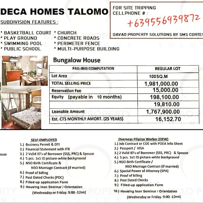 DECA HOMES TALOMO Now Open for Reservations....  2BR,1TB  LO...