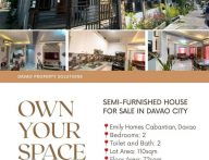 Semi-Furnished House for Sale in Emily Homes Cabantian Davao City