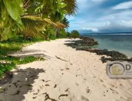 300 meters BAGANGAGA Beach front in 18.7 hectares land is up for sale virgin beach front